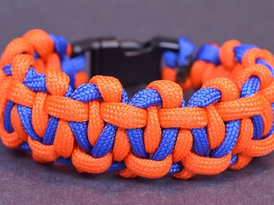 "How to Maked the ""Cobbled Interlocked Bar"" Paracord Bracelet - BoredParaocrd"