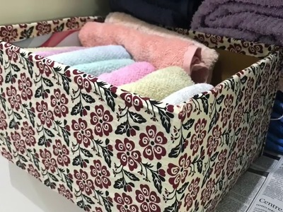 How to Reuse cardboard boxes into storage basket