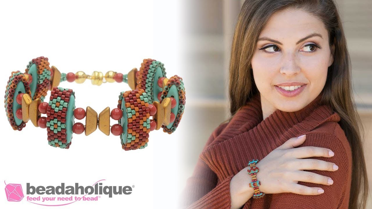 How to String the Autumn Sunset Carrier Bead Bracelet