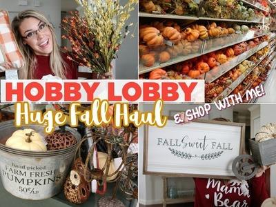 HUGE FALL DECOR HAUL & Shop With Me 2018 | HOBBY LOBBY FARMHOUSE FALL DECOR