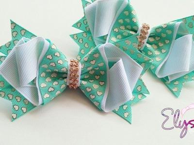 Laço Brielle Fita N5 ???? Ribbon Bow Tutorial ???? DIY by Elysia Handmade