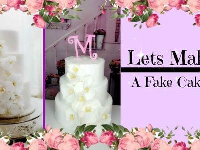 LETS MAKE A FAKE CAKE   BALLING ON A BUDGET