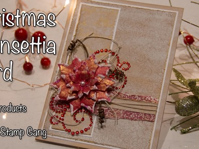 LSG Christmas Poinsettia Card - Quick and Simple!