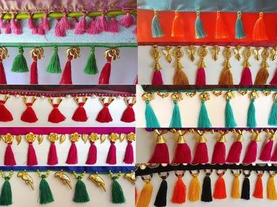 My over all Silk Thread Saree Kuchu.tassels Collection Part -1