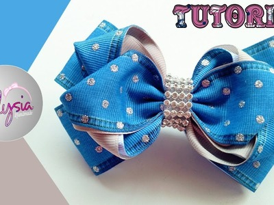 New laço Tulip Full ???? Ribbon Bow Tutorial ???? DIY by Elysia Handmade