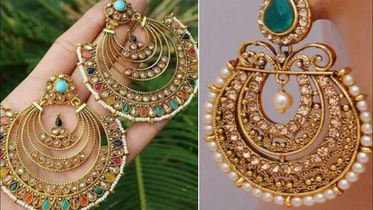 New Layered Chandbali Earrings Design Ideas Beautiful Moti Kundan