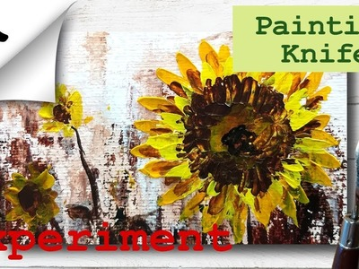 Painting a Sunflower with Palette knife