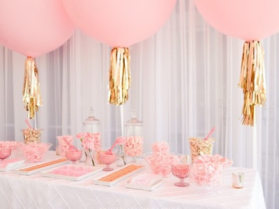 Peony Pink + Champagne Gold Candy Bar, styled by Enchanted Empire