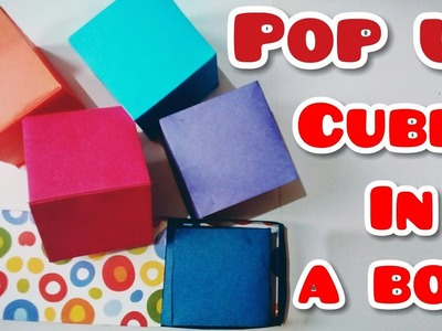Pop Up Cubes In A Box | Pop Up Card Tutorial | Catchy Crafts