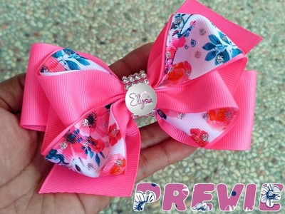 [PREVIEW] Laço Onda Fita N9 ???? Ribbon Bow ???? DIY by Elysia Handmade