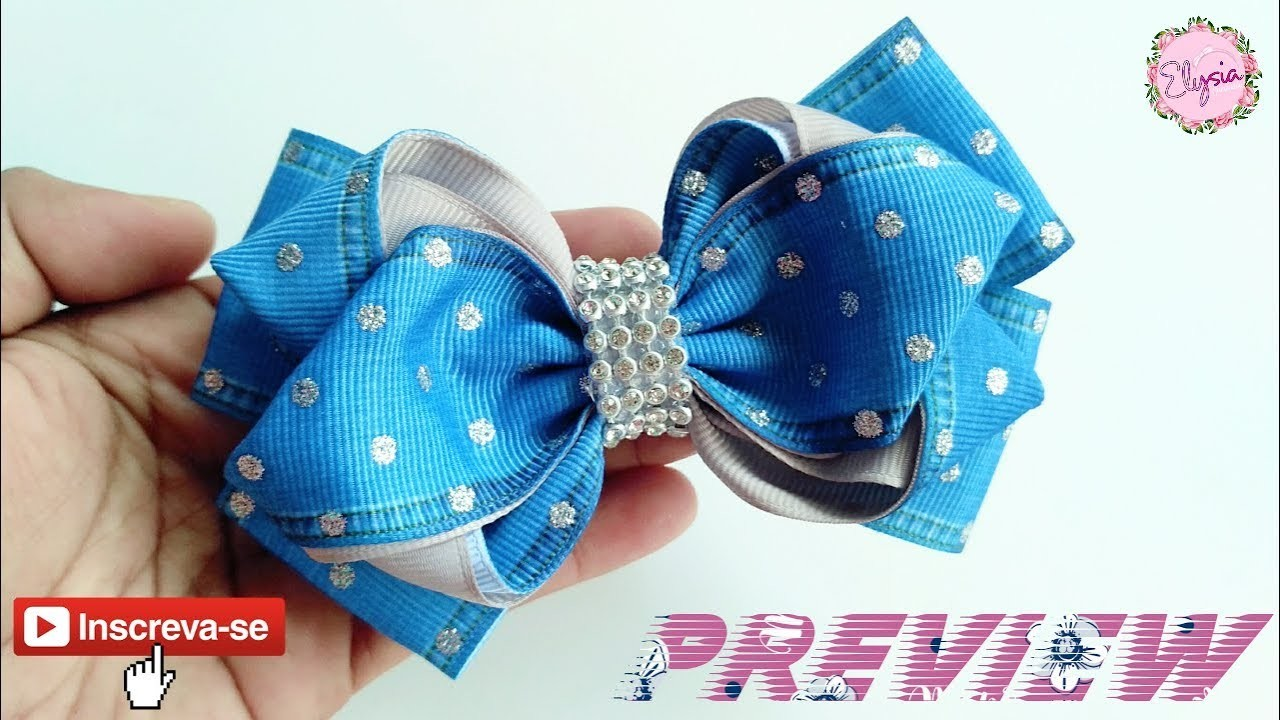 [PREVIEW] New laço Tulip Full Version ???? Ribbon Bow Tutorial ???? DIY by Elysia Handmade
