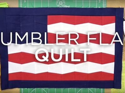 QuiltSnips Mini Tutorial - Mini Tumbler Flag