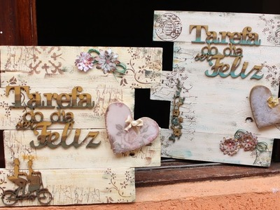 RECILAGEM DE PALLET ❤ - CURSO DE ARTESANATO BELLA ART'S