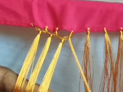 Saree Kuchu.tassel without beads-very easy and beautiful design