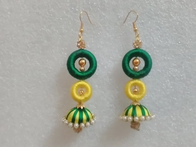 Silk thread party wear long jhumka earring