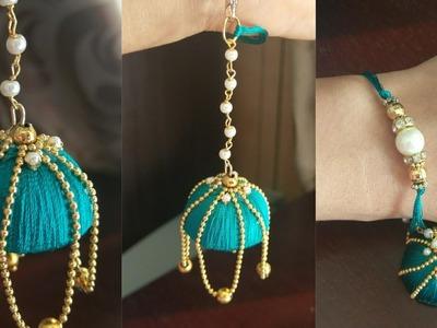 Simple,easy and beautiful silk thread jhumka bracelet.jewellery making