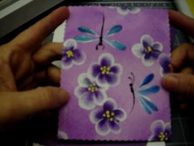 Simple painted card Part 1