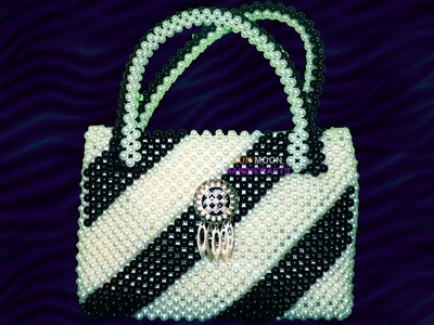 পুতির ব্যাগ. How to attach foam, cloth and chain inside the beaded hand bag.beaded bag(part-2)
