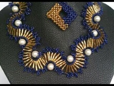 Tutorial on how to make this beautiful bead necklace