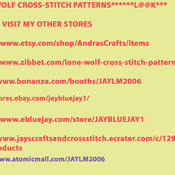 Twilight Song Wolf Cross Stitch Pattern***LOOK***