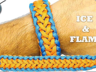 World of Paracord - How to Make Paracord Bracelet ICE and FLAME - Simple Fast and Easy DIY Paracord