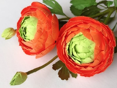 ABC TV | How To Make Ranunculus Paper Flower With Shape Punch - Craft Tutorial