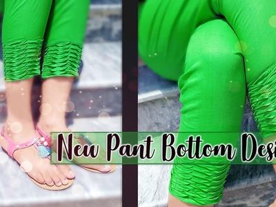 Beautiful capri bottom design 2018 cutting and stitching