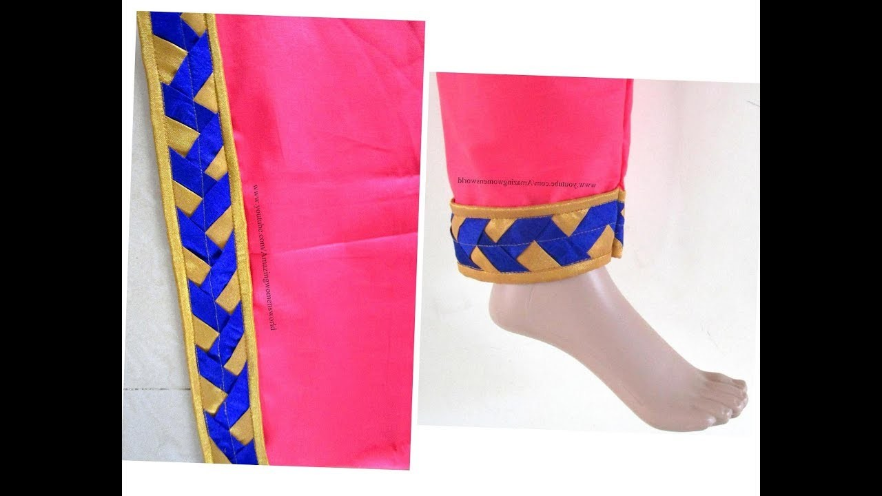 Beautiful Salwar Mohri. Pouncha Design - Easy Making - Complete Tutorial