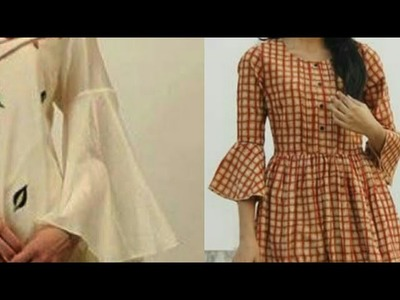 BELL SLEEVES CUTTING AND STITCHING. KURTI. BLOUSE. TOP