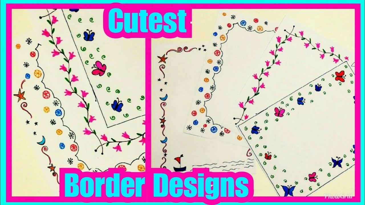 Border Designs On Paper Project File Decoration Ideas Project