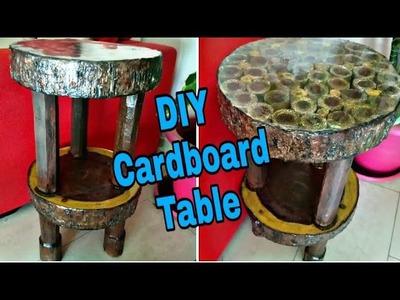 #Cardboardfurniture#Howtomake, How to make Cardboard table. Wood look table. Cardboard furniture :