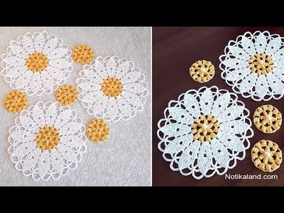 CROCHET Doily Tutorial for beginners How to crochet  Part 1 1 2 round