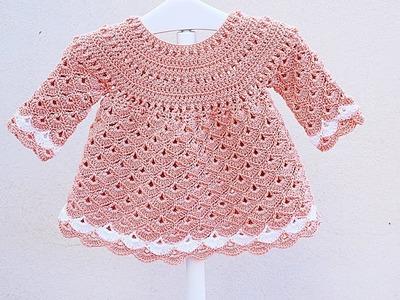 Crochet girl dress very easy Majovel crochet #crochet #ganchillo