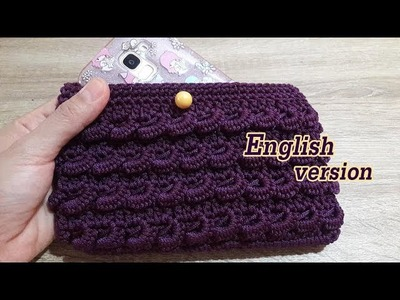 Curry puff crochet | English version | How to crochet mini curry puff phone case