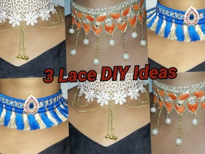 Designer necklace making with lace