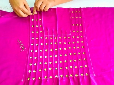 Designer Yoke for Ethnic Tops,Dresses,Kurtis |  Beautiful Yoke Design with Pin Tucks