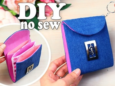DIY JEANS POUCH IDEA. Jeans Recycle into Wallet Tutorial. Out of old jeans