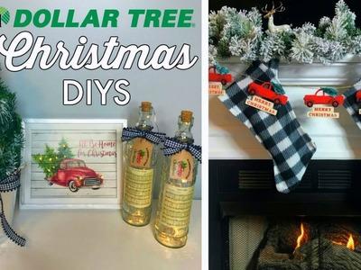 DOLLAR TREE CHRISTMAS DIYS | 5 EASY IDEAS | RED TRUCK & BUFFALO CHECK | CHIC ON THE CHEAP