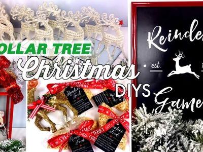 DOLLAR TREE CHRISTMAS DIYS | REINDEER THEME & LARGE RED LANTERN | CHIC ON THE CHEAP