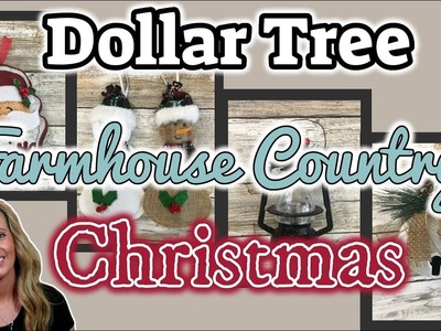 Dollar Tree FARMHOUSE COUNTRY Christmas Finds | KB Creations