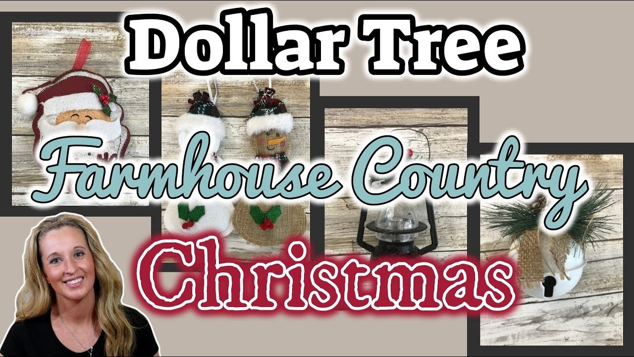 Dollar Tree FARMHOUSE COUNTRY Christmas Finds   KB Creations