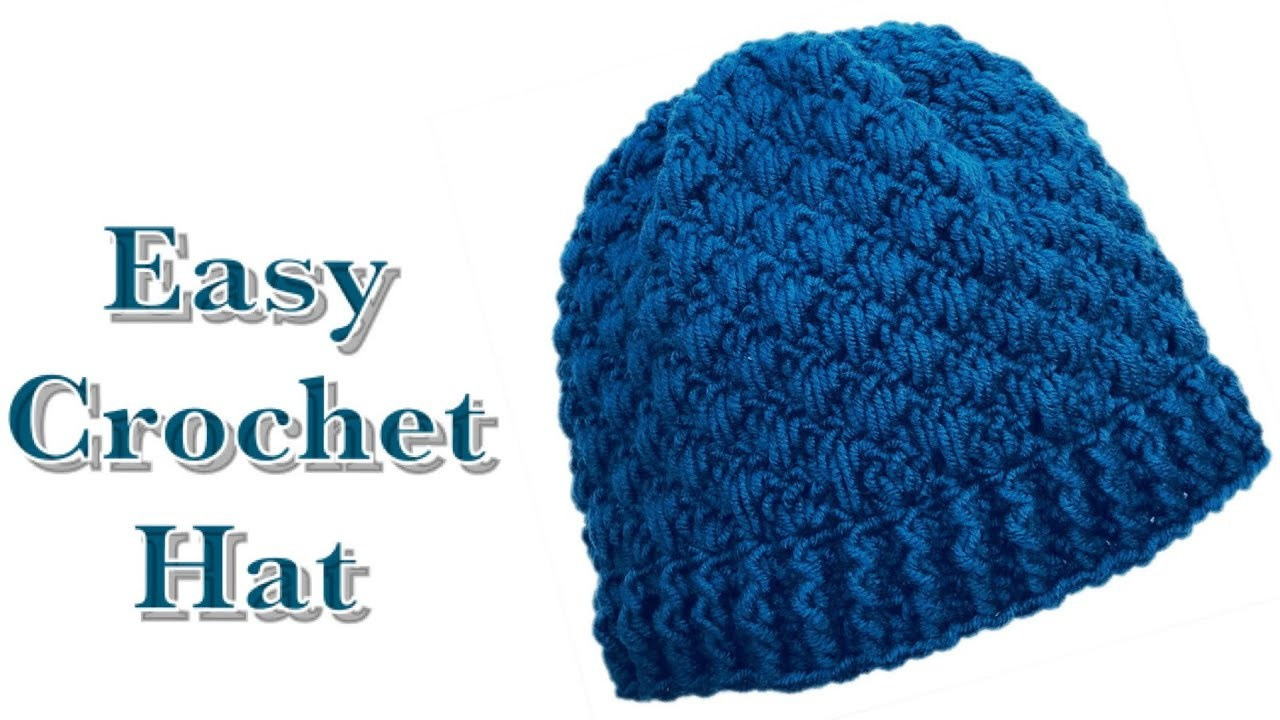 Easy crochet hat for boys and girls 4-5 years with Lily of The Valley crochet stitch #155