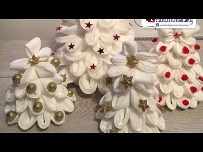 Easy tutorial tutorial facilissimo how to make Christmas decorations with make-up remover pads