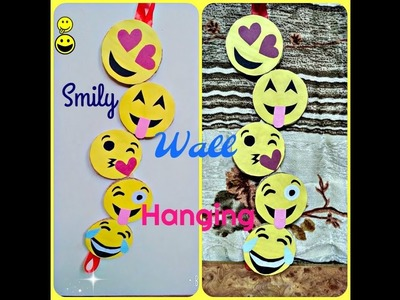 Easy way to make smily wall hanging || Room decoration || crafts design ||