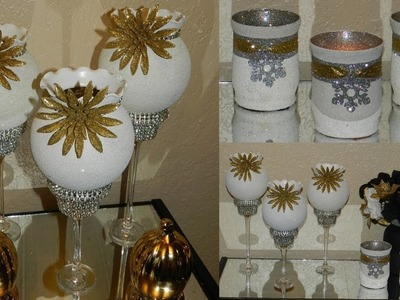 Elegant Christmas Candle Holders| Dollar Tree Christmas Home Decor|