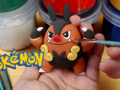 Flare Blitz! Sculpting Pignite from Pokemon easily in clay