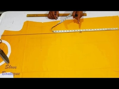 Front Side Slit Kurti.Kameez Design Cutting and Stitching in Hindi