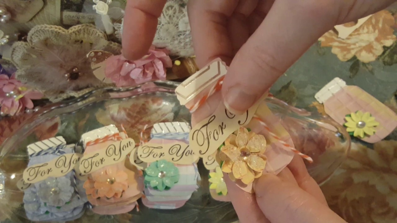 Gloria's Mason Jars Kit Ideas and Embellishment Mason Jar For You Tags!