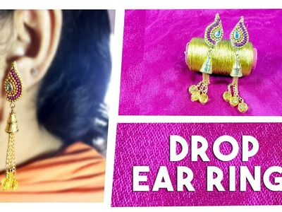 Gold Drop Earrings | How to Make Earrings at Home | Hair Styles & Fashions
