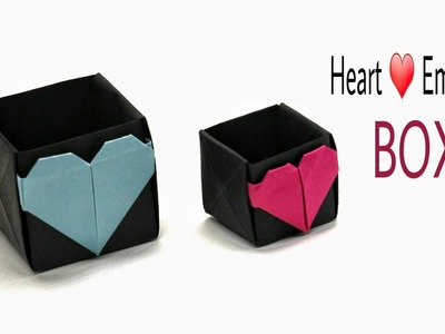 Heart Embossed Box - DIY  origami Tutorial by Paper Folds - 932